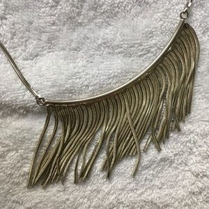 Natasha Jewelry - Natasha Silver Flowy Fabric Necklace